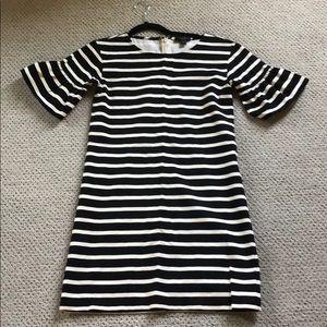 J.Crew striped ruffle cotton dress, XXS